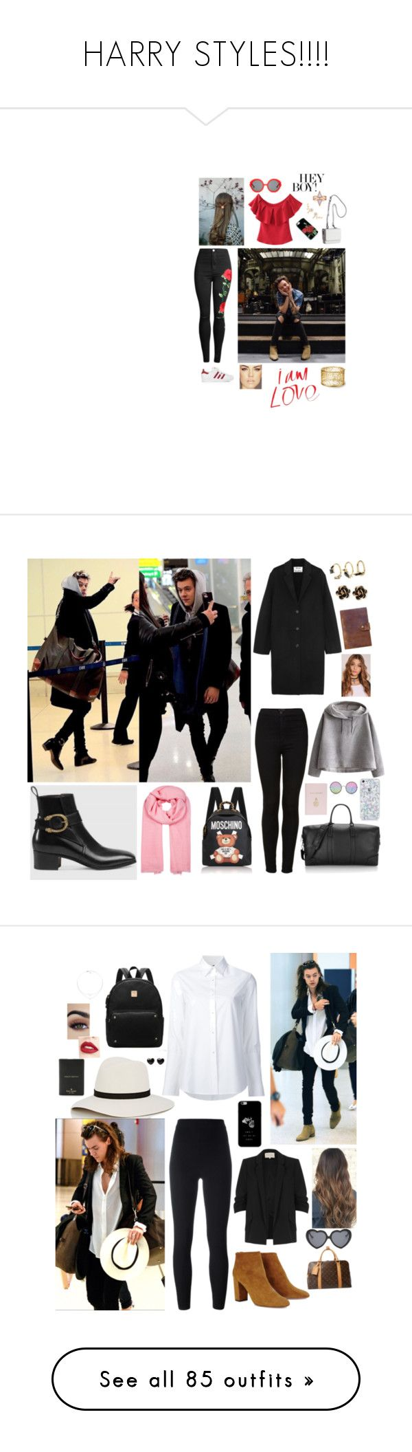 """""""HARRY STYLES!!!!"""" by mary-5so1ds ❤ liked on Polyvore featuring adidas, Kendall + Kylie, Preen, Denis Colomb, Acne Studios, Topshop, WithChic, Moschino, Rebecca Minkoff and Mark Cross"""