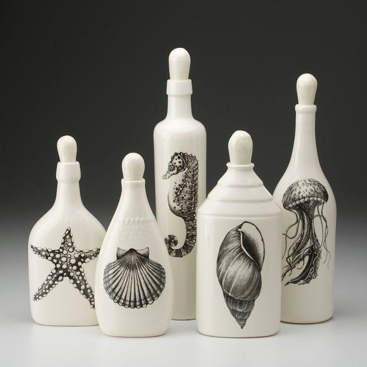 Laura Zindel Design - Set of 5 Bottles: Sealife, $250.00 (http://www.laurazindel.com/set-of-5-bottles-sealife/)