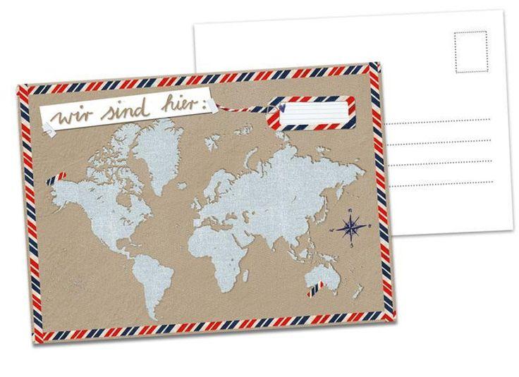 Hochzeitsspiel: 26x Wir sind hier - Postkarten von EINE DER GUTEN - Bücher für ein tolleres Leben auf DaWanda.com