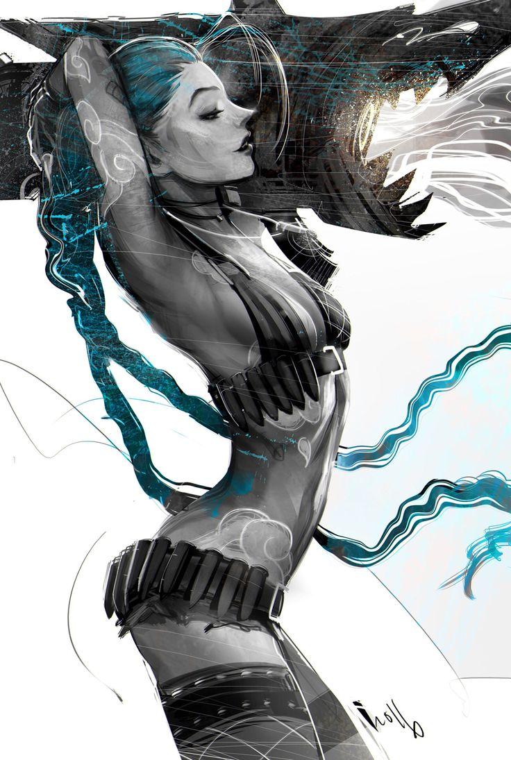 Jinx - League of Legends fan art by iVAN TAO