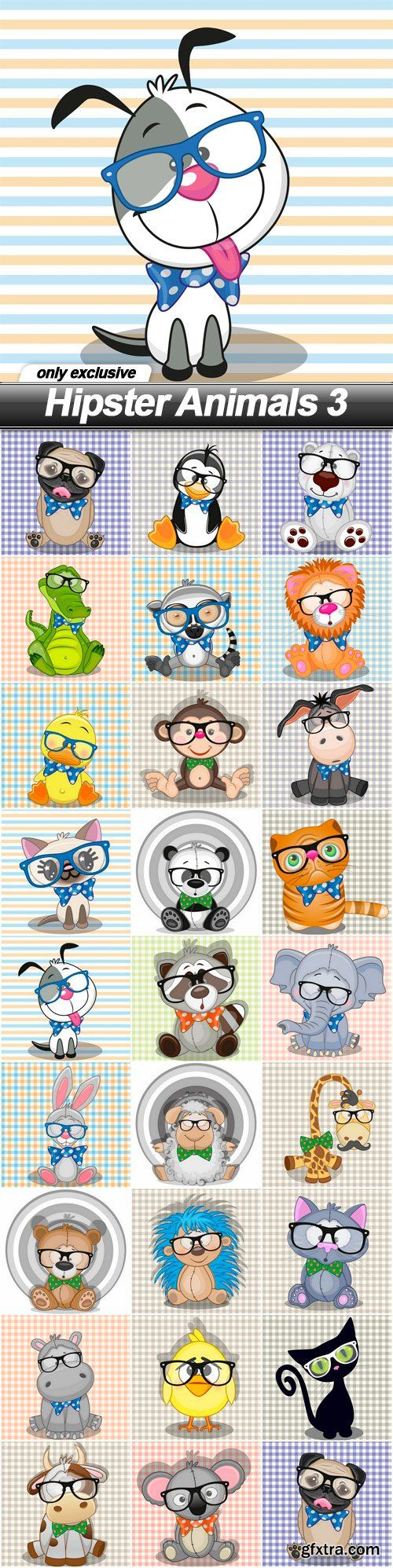 Hipster Animals 3 - 26 EPS
