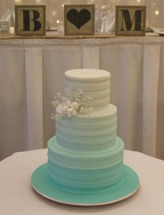 Mint Green Ombre Wedding Cake - Cake by Leanne Purnell