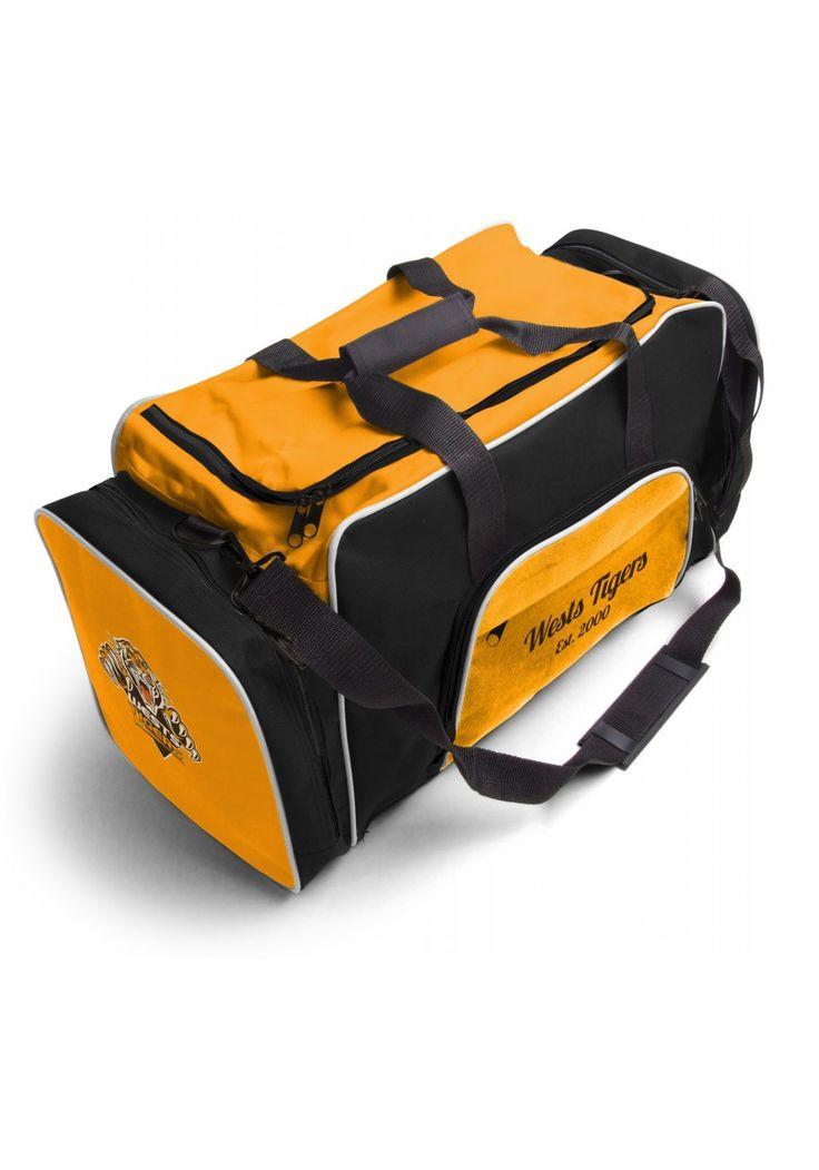 West Tigers NRL Team Logo Two Tone Sports Training Bag