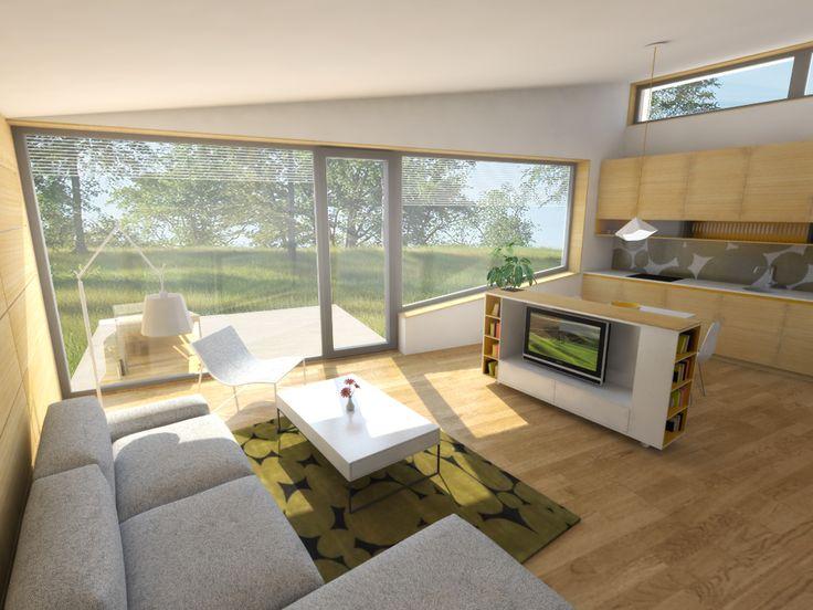 Návrh interiéru obývacej izby, radové domy, novostavba, Ružindol - Interiérový dizajn / Living room interior by Archilab