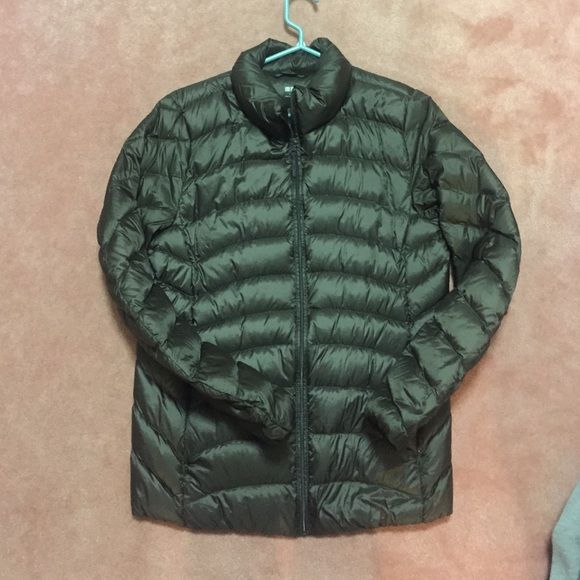 Brown uniqlo jacket Brown uniqlo jacket. Ultra light. UNIQLO Jackets & Coats