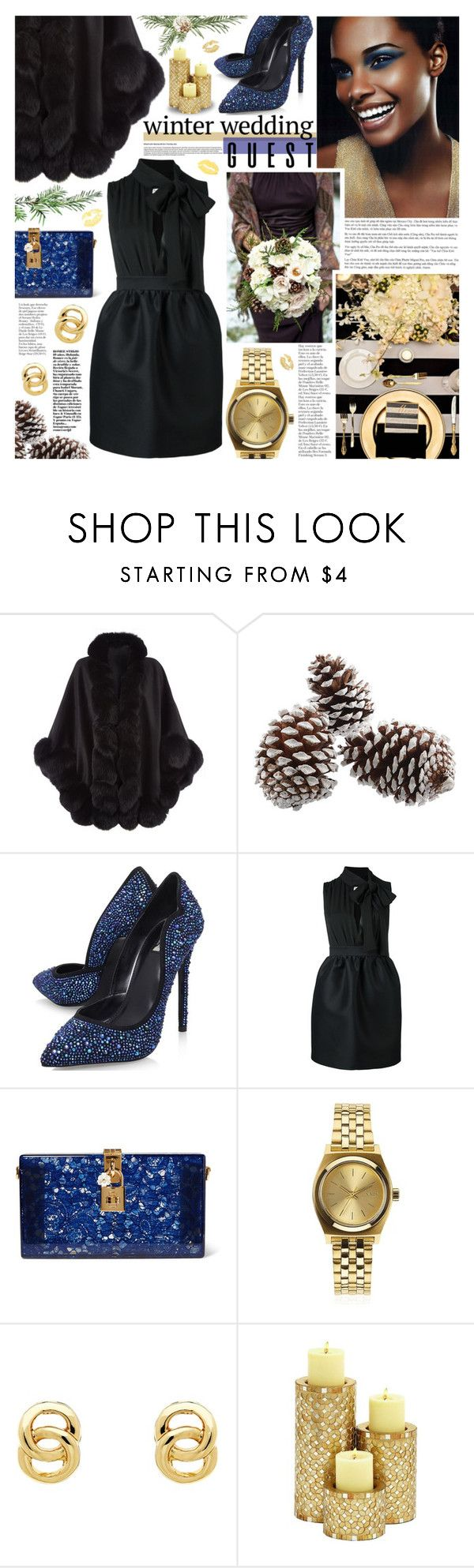 """""""Selena"""" by kumi-chan ❤ liked on Polyvore featuring Harrods, Carvela, Dolce&Gabbana, Nixon and Monet"""