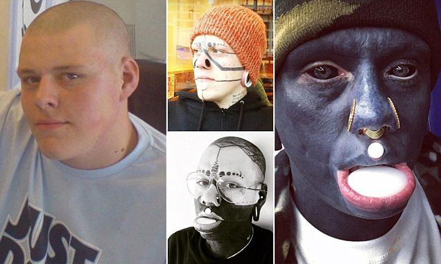 """#Human """"#Picasso"""": Tattoo addict inks entire body #including eyeballs, inside mouth..."""