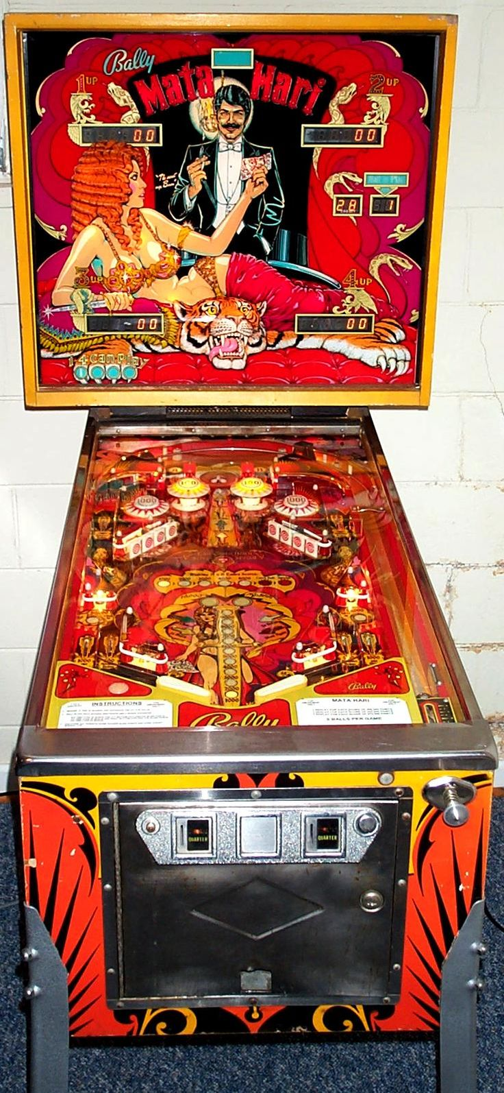 Mata Hari pinball machine made by Bally