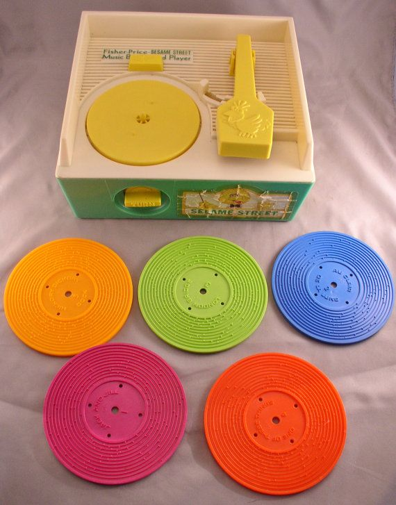 1984 Fisher Price Sesame Street Record Player - Complete with all 5 Records and works great! Vintage Toy