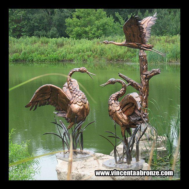 If You Need Crane Statues Do Not Hesitate To Contact Vincentaa At  Info@vincentaabronze. Bird SculptureGarden ...