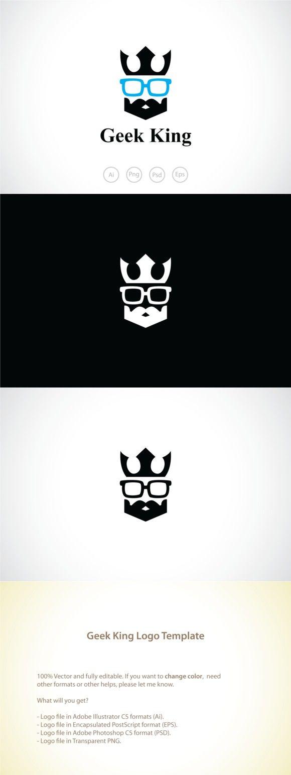 Geek King Logo Template