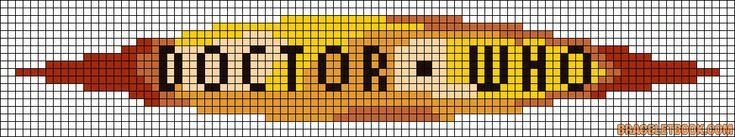 Doctor Who logo TV perler bead pattern, yep more beady stuff