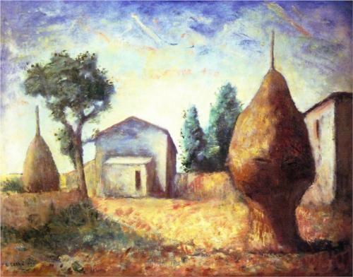 Pagliai  - Carlo Carra. post-impressionism