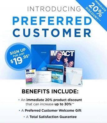 "The ""Preferred Customer"" option now available. For $19.95 + tax and shipping you get a 20% discount (with an option to get to a 30% discount) on all the AdvoCare products for up to 12 months.  As long as you pay your YEARLY renewal of $19.95, you keep whatever level of discount you reached.   • NO SELLING • NO AUTOSHIP • NO MONTHLY FEES • NO WEBSITE FEE • NO AUTODRAFT  Simply consume the products you LOVE and save some money."