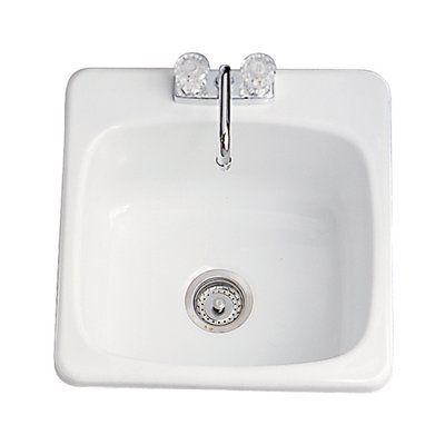 Acri-Tec Industries 11011 Acrylic Classic Laundry Sink