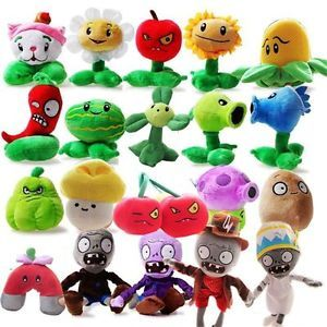 Plants-vs-Zombies-Plush-Toy-Set-20-Piece-Small-OliaDesign-6-034-8-034-Tall-FS-XMAS