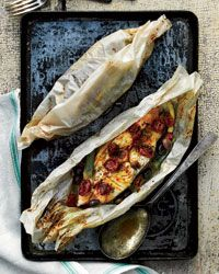 Halibut and Summer Vegetables en Papillote!!! This looks so good!!!!