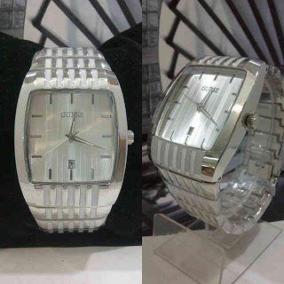 Jam tangan Guess Square Fit Chain Harga : Rp 210.000,-  Spesifikasi : Tipe : jam tangan wanita Kualitas : kw super Diameter : 3,5cm Tali : rantai Fitur : tanggal aktif  Jam tangan Guess kw super berpenampilan futuristik dan modern. Cek koleksi jam tangan guess lainnya.  SMS : 081802959999 Pin BB : 270C3124