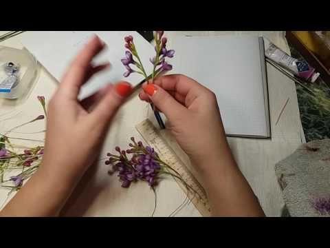 Лепка махрового цветка сирени,сборка соцветия.