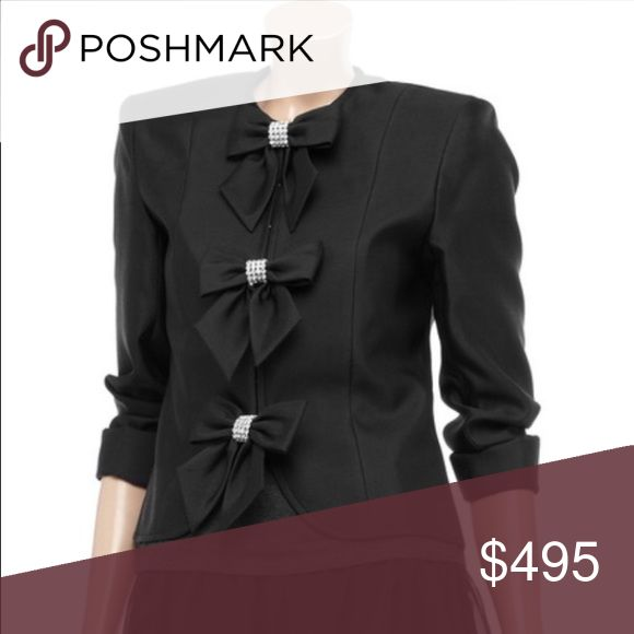 Thomas Wylde bow jacket Excellent condition. Size 6. Black with bow front detailing. Make me an offer. Please use the offer system. Thxs Thomas Wylde Jackets & Coats Blazers