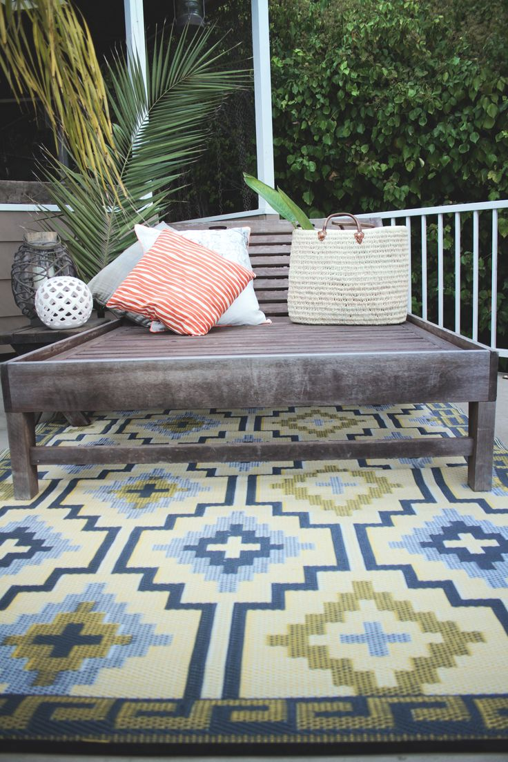 Lhasa Reversible Indoor Outdoor Rug Empire Yellow Gray By Fab Habitat On