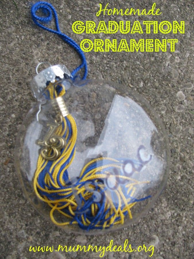 Homemade Graduation Ornament - What better way to commemorate graduation than a Homemade Graduation ornament. Even if you're not super crafty you are going to LOVEEEEEEEE this project as it takes only a few minutes! ~ Mummy Deals