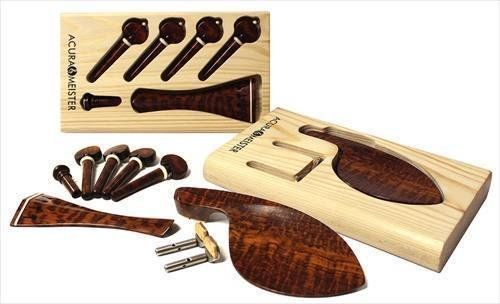 Buy Violin 6 Piece Snakewood Fittings Kit, Chinrest, Tailpiece, Pegs