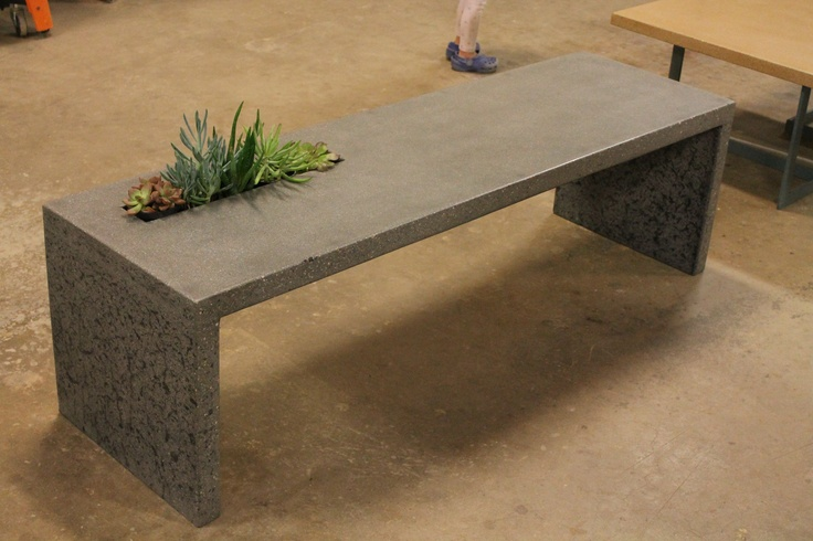 how to build a concrete bench seat