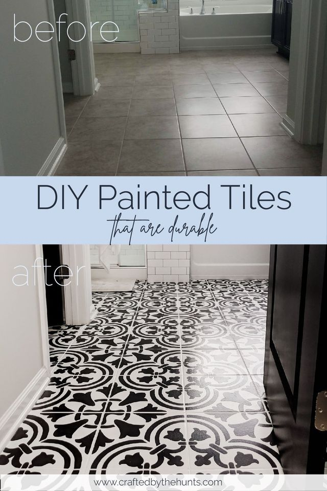 diy painted tile floors diy painted