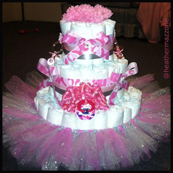camo diaper cake diaper cakes camo baby pink camo baby shower cake