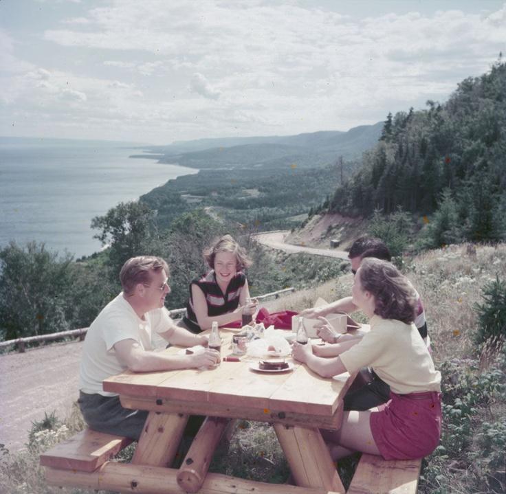 A Cabot Trail_Picnic_Cape Breton Island http://www.scoop.it/t/cape-breton-island-news-views.. GREAT VINTAGE PIC