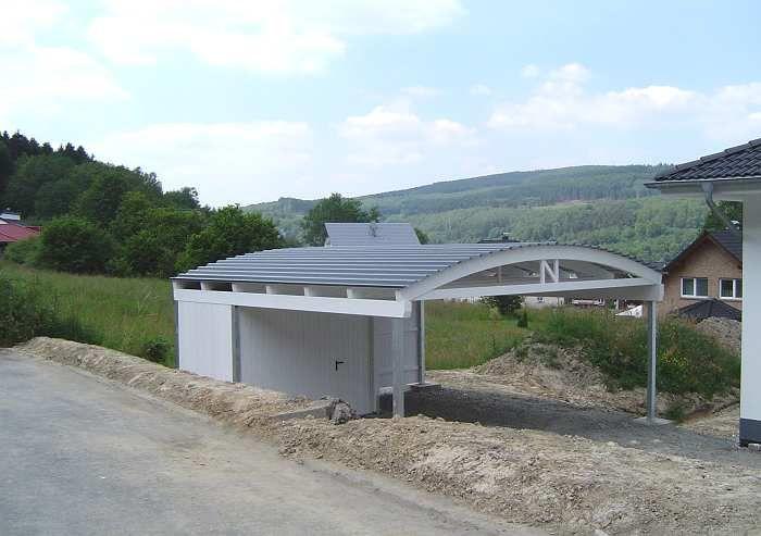 Carport Dacheindeckung mit Stahltrapez-Dachblechen