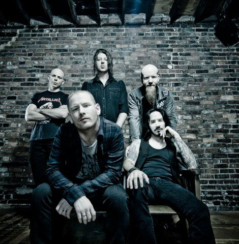 Stone Sour - they're not much to look at (sorry, guys) but I love Corey Taylor's voice and Audio Secrecy is an excellent album. One of my favorite bands, currently.