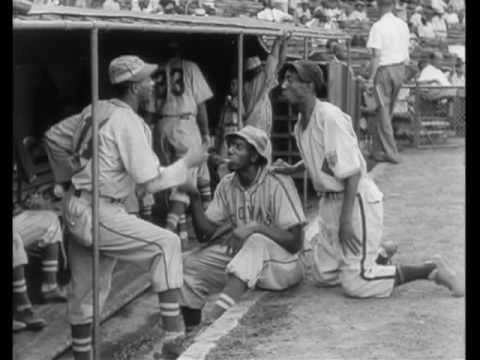 "Actual footage (1946) of Negro League Baseball player Reece ""Goose"" Tatum of the Indianapolis Clowns and the  Kansas City Monarchs."