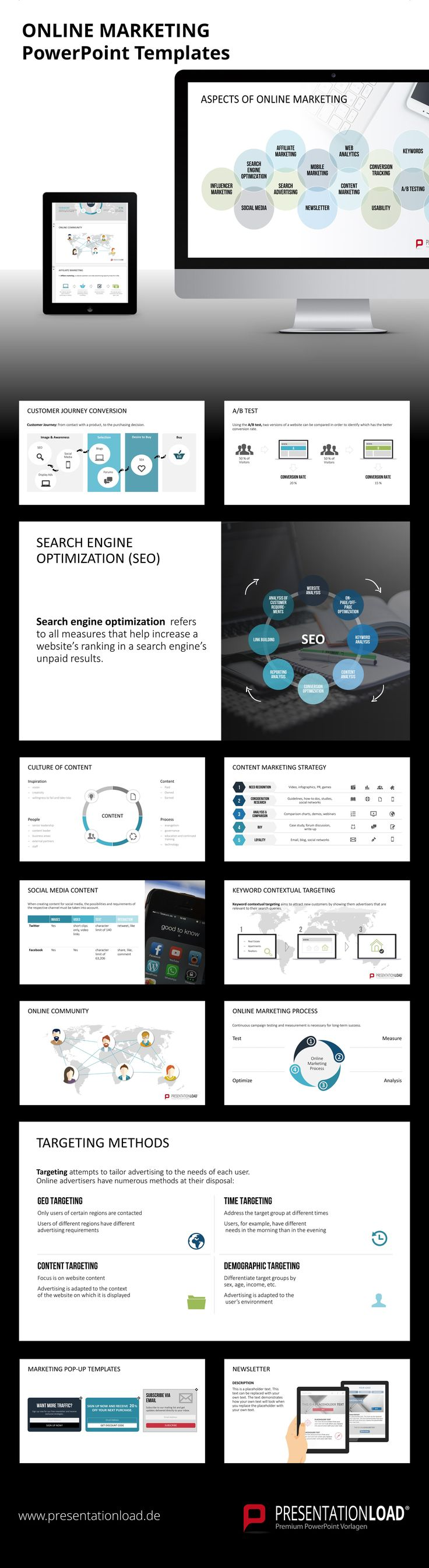 121 best MARKETING // POWERPOINT TEMPLATES images on Pinterest ...