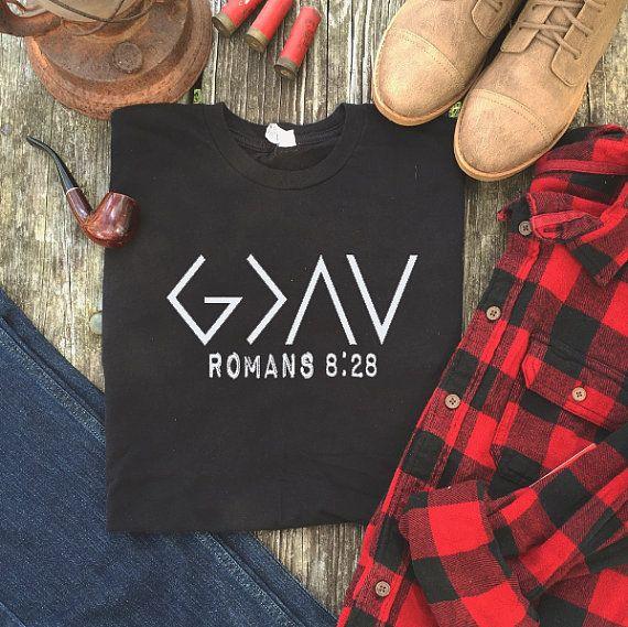 Mens Jesus Shirt Mens Christian shirt Christian by ThePlaidDeer