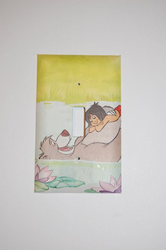 Baloo and Mowgli The Jungle Book Light Switch Cover