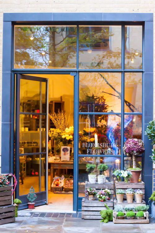 Bloomsbury Flowers' shop in Ham Yard Village, London