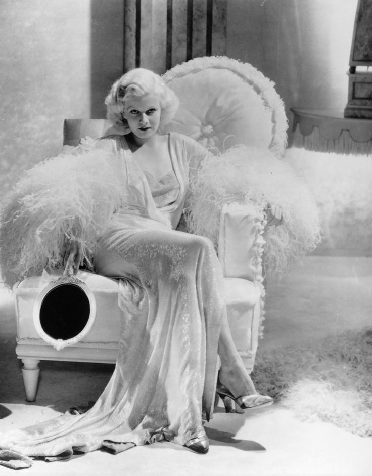 Jean Harlow's Style Evolution  1933