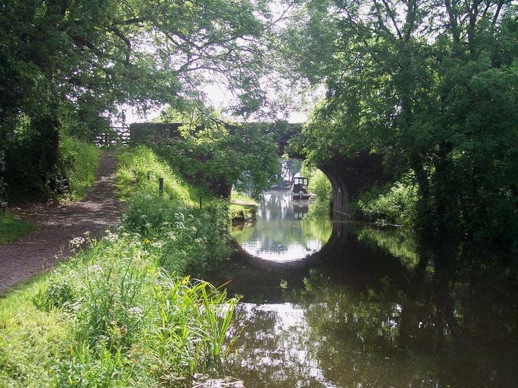 The Grand Western canal near Tiverton.