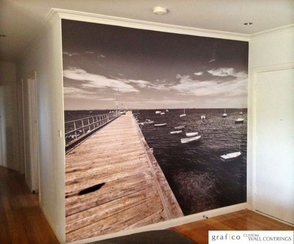 Custom Digital Print Wallpaper - Pier Feature Wall