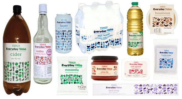 Tesco Everyday Value Private Label Packaging - PKG