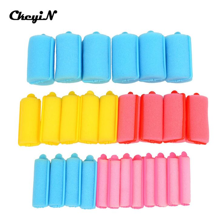 5 Size 27pcs Magic Soft Sponge Plastic Hair Roller Curl Colorful New Fashion DIY Salon Hair Curler Curling Hairstyling Tool Care