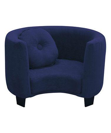 Look what I found on #zulily! Navy Blue Comfy Kids Armchair #zulilyfinds