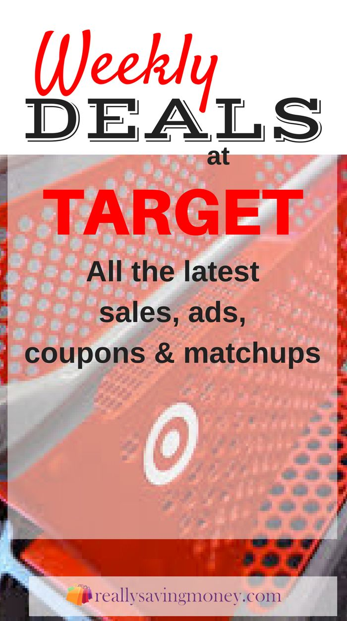 Target Weekly Ad Deals complete with store match-ups. Make sure to load your Target Cartwheel. Save money with these Target coupons | weekly deals | Target deals | money saving discounts | sales