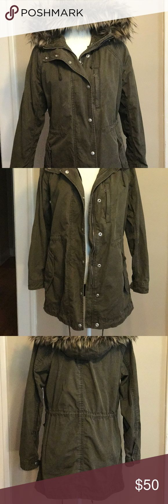 Army green gap coat two in one