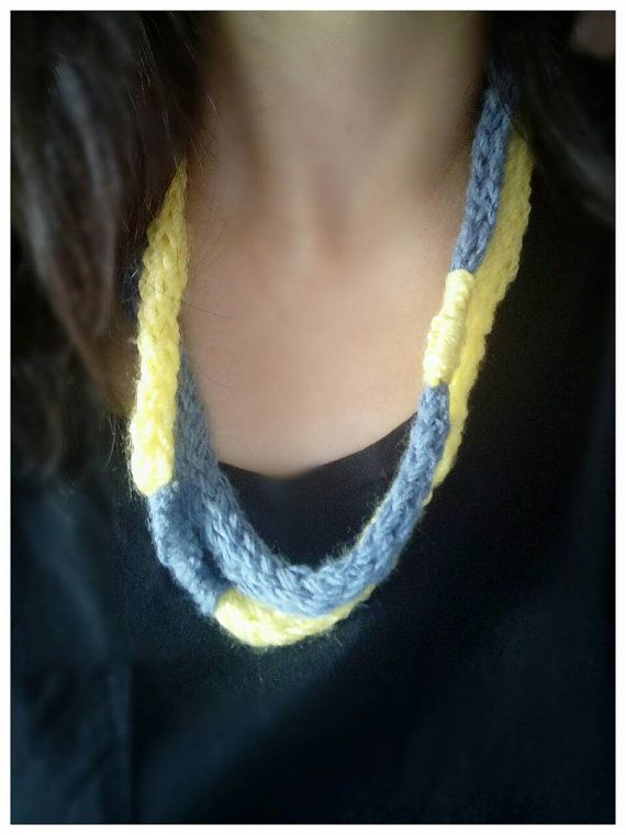 Check out this item in my Etsy shop https://www.etsy.com/listing/480852702/yarn-necklace-two-strand-necklace