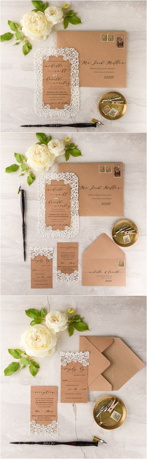 lotus flower wedding invitations%0A We Love  Laser Cut Wedding Invitations   lovepolkadots
