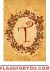T - Vine / Berries Monogram Garden Flag