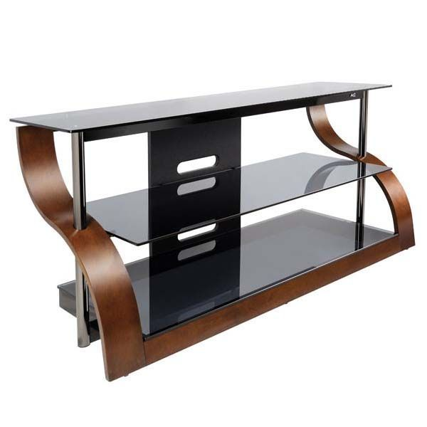 See additional information on the Bello Curved Wood and Black Glass TV Stand for 32-55 inch Screens (Espresso) CW343 below.